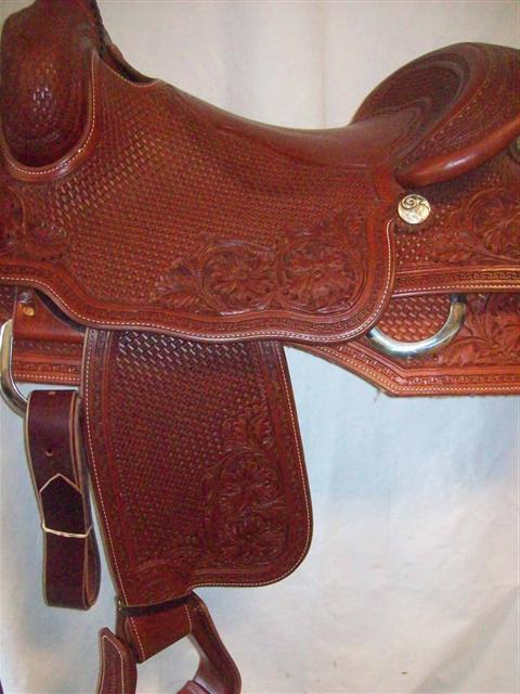 Used Saddle:Bob's Custom Saddles  Square Skirt  Hardseat 16- Image Number:0
