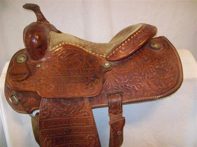 Used Saddle:Billy Cook (Original Greenville) Vintage All- Around 14inch- Image Number:0