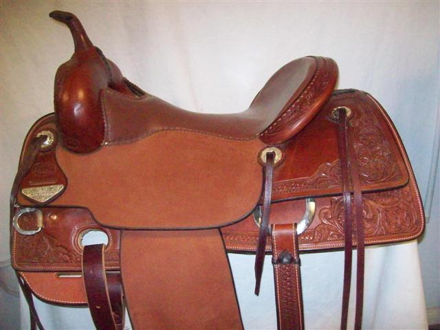 Used Saddle:Bob's Custom Saddles New Teddy Robinson model 16inch- Image Number:0