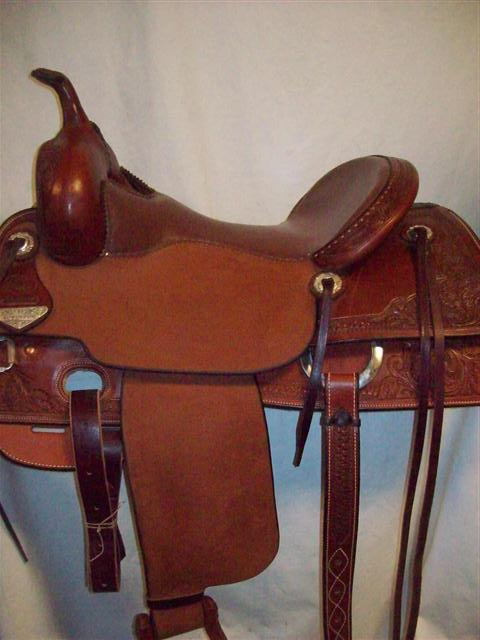 Used Saddle:Bob's Custom Saddles New Teddy Robinson model 16inch- Image Number:1