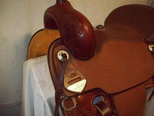 Used Saddle:Bob's Custom Saddles New Teddy Robinson model 16inch- Image Number:2