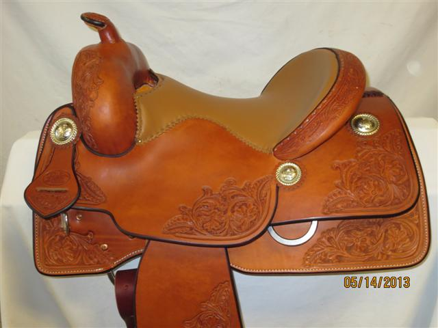 Used Saddle:Bob's Kid's Short Stirrup Reiner- 13inch- Image Number:0