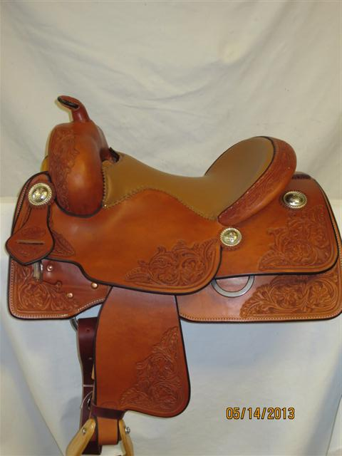 Used Saddle:Bob's Kid's Short Stirrup Reiner- 13inch- Image Number:1