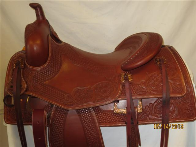 Used Saddle:Bob's Custom Saddles Bob Avila Hard Seat Cowhorse- Copper!- Image Number:0