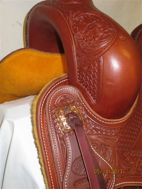 Used Saddle:Bob's Custom Saddles Bob Avila Hard Seat Cowhorse- Copper!- Image Number:1