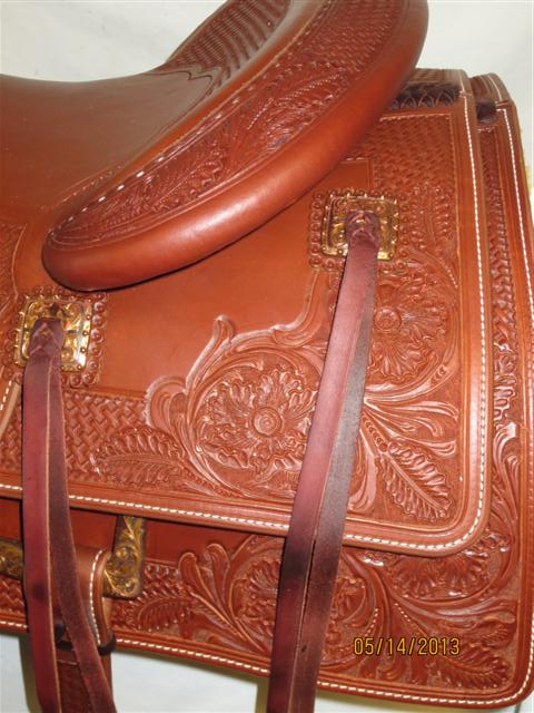 Used Saddle:Bob's Custom Saddles Bob Avila Hard Seat Cowhorse- Copper!- Image Number:2