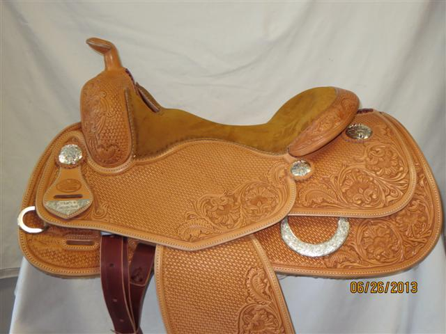 Used Saddle:Bob's Custom Saddles Tanya Jenkins Deluxe Reiner 16- Image Number:0