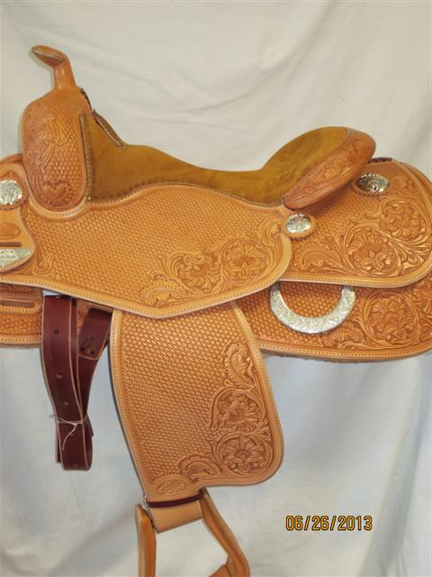 Used Saddle:Bob's Custom Saddles Tanya Jenkins Deluxe Reiner 16- Image Number:1