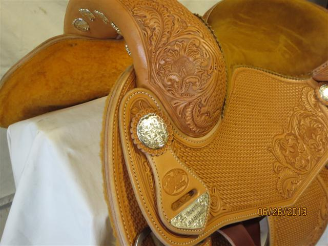 Used Saddle:Bob's Custom Saddles Tanya Jenkins Deluxe Reiner 16- Image Number:2