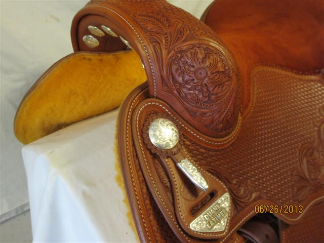 Used Saddle:Bob's Custom Saddles Duane Latimer 15.5inch-16.5inch in stock- Image Number:2