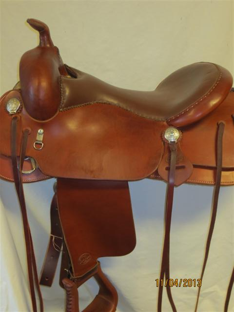 Used Saddle:Bob's Custom Saddles Trail Saddle- NEW- Image Number:1