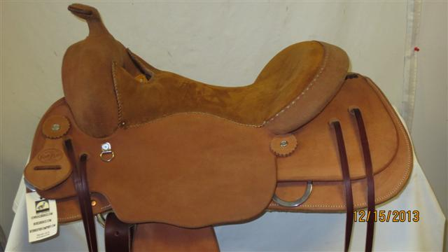 Used Saddle:Bob's Custom Saddles Trail Saddle- NEW- Image Number:4