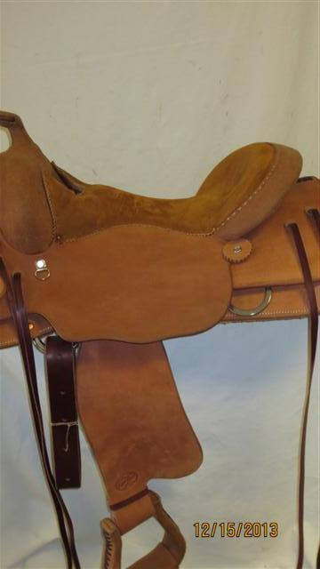 Used Saddle:Bob's Custom Saddles Trail Saddle- NEW- Image Number:3
