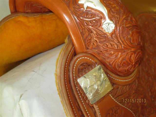 Used Saddle:Bob's Custom Silver Dolphin Saddle- UNIQUE- Image Number:3