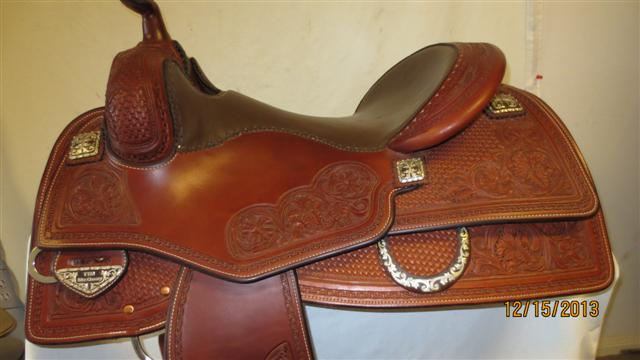 Used Saddle:Tim McQuay model from Bob's Custom Saddles- 15.5inch, 16inch, 16.5inch in stock!- Image Number:0