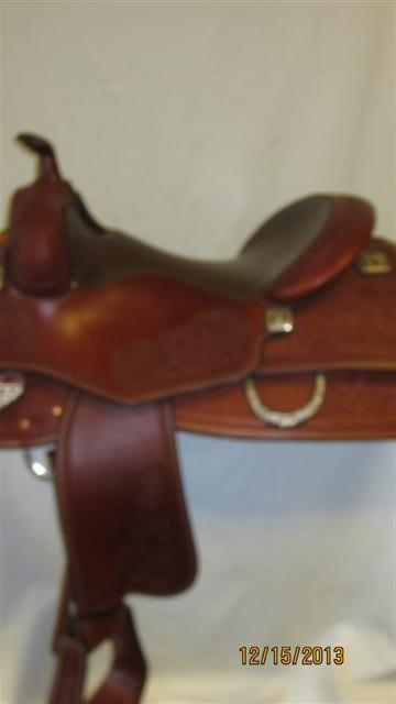 Used Saddle:Tim McQuay model from Bob's Custom Saddles- 15.5inch, 16inch, 16.5inch in stock!- Image Number:1