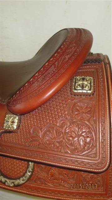 Used Saddle:Tim McQuay model from Bob's Custom Saddles- 15.5inch, 16inch, 16.5inch in stock!- Image Number:2