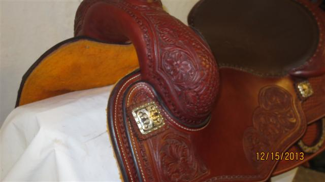 Used Saddle:Tim McQuay model from Bob's Custom Saddles- 15.5inch, 16inch, 16.5inch in stock!- Image Number:3
