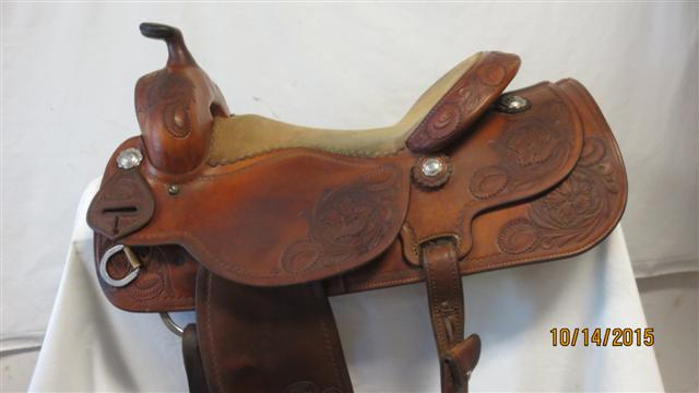Used Saddle:Joey Jemison Rancher/All-Around 16inch- Image Number:0