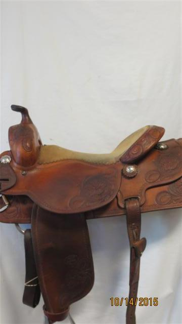 Used Saddle:Joey Jemison Rancher/All-Around 16inch- Image Number:1
