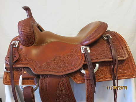 Used Saddle:Bob's Lady's Cowhorse Show Saddle- 16inch- Image Number:0