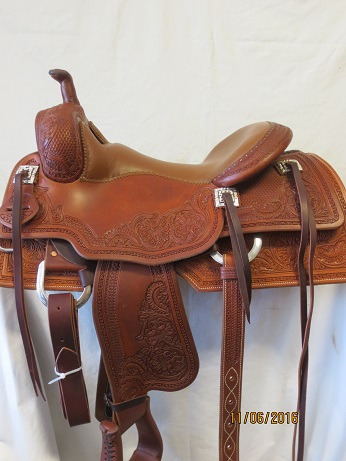 Used Saddle:Bob's Lady's Cowhorse Show Saddle- 16inch- Image Number:1