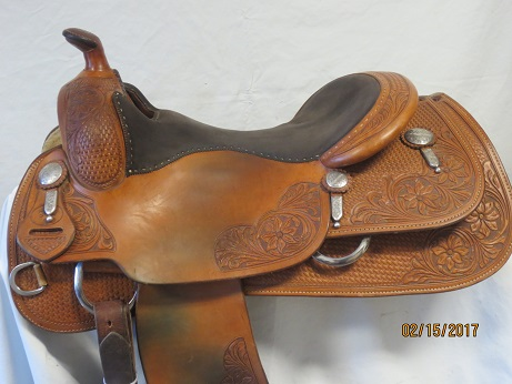 Used Saddle:Bob's Custom Saddles used KR 16inch- Image Number:0