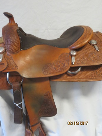 Used Saddle:Bob's Custom Saddles used KR 16inch- Image Number:1