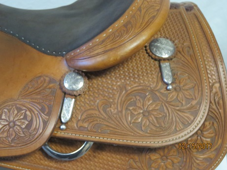 Used Saddle:Bob's Custom Saddles used KR 16inch- Image Number:2