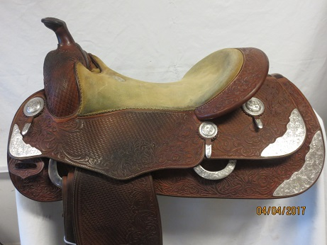 Used Saddle:Donn Leson Show Saddle 16- Image Number:0