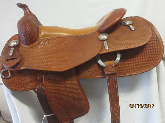 Used Saddle:Bob's Custom Saddles Al Dunning Model 16inch- Image Number:0