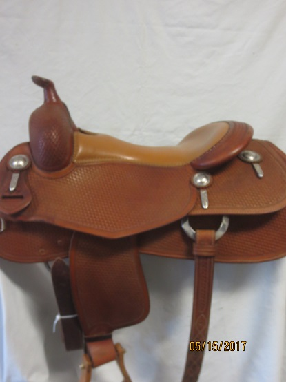 Used Saddle:Bob's Custom Saddles Al Dunning Model 16inch- Image Number:1