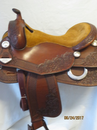 Used Saddle:Bob's Custom Saddles New Antique Finished Duane Latimer - Image Number:1