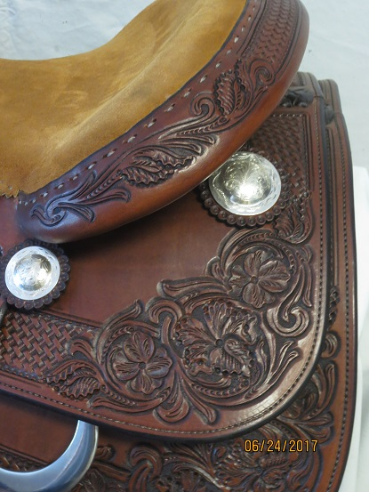 Used Saddle:Bob's Custom Saddles New Antique Finished Duane Latimer - Image Number:2