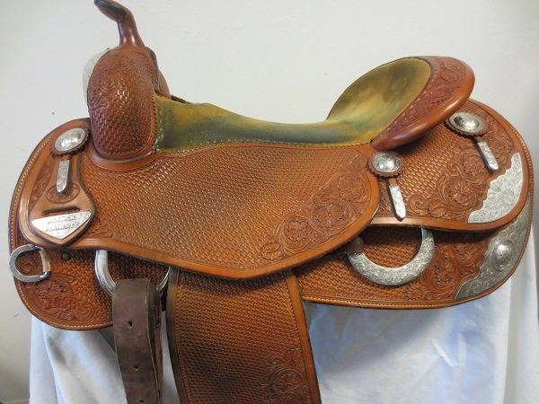Used Saddle:Bob's Great Condition used Show Reiner AF tree 16.5- Image Number:0