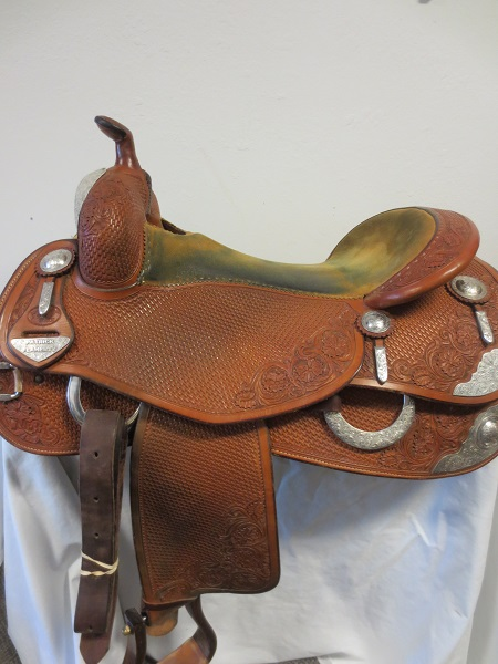 Used Saddle:Bob's Great Condition used Show Reiner AF tree 16.5- Image Number:1