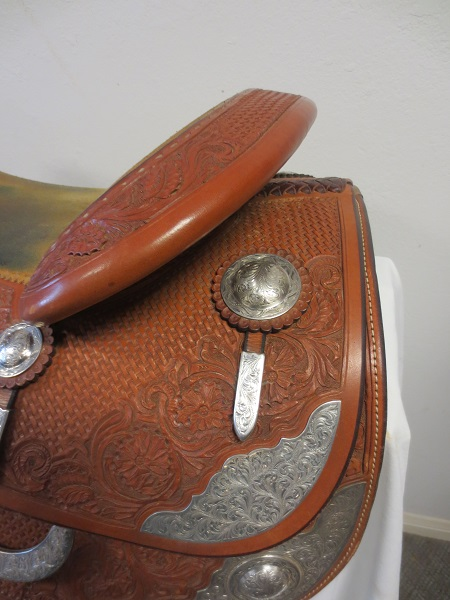 Used Saddle:Bob's Great Condition used Show Reiner AF tree 16.5- Image Number:2