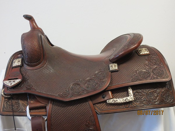 Used Saddle:GORGEOUS Bob's Hardseat JL Reiner 16inch- Image Number:0