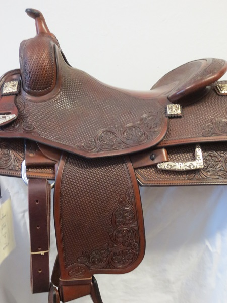 Used Saddle:GORGEOUS Bob's Hardseat JL Reiner 16inch- Image Number:1