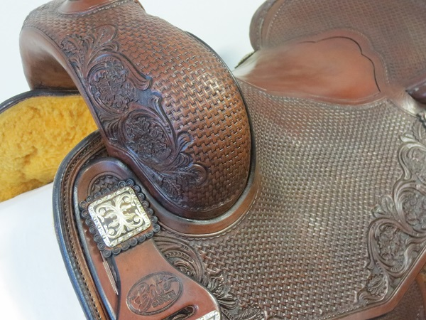 Used Saddle:GORGEOUS Bob's Hardseat JL Reiner 16inch- Image Number:2