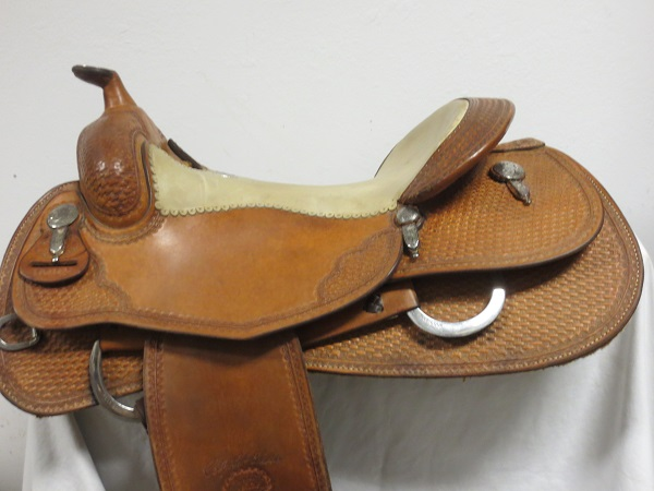 Used Saddle:USED Billy Cook Leson style Reiner saddle 16inch- Image Number:0