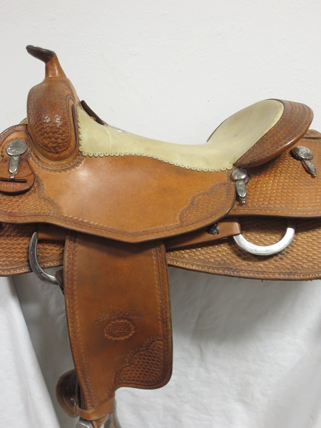 Used Saddle:USED Billy Cook Leson style Reiner saddle 16inch- Image Number:1