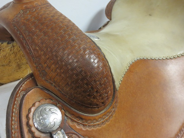 Used Saddle:USED Billy Cook Leson style Reiner saddle 16inch- Image Number:2