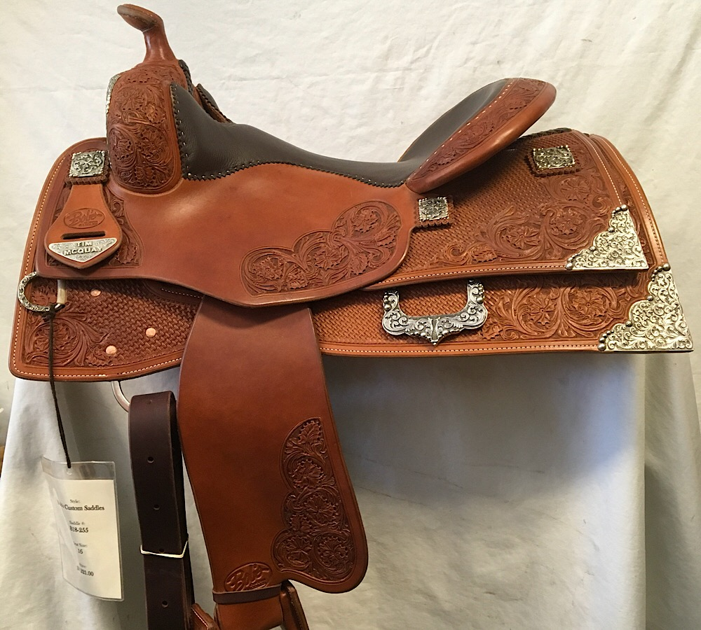 Used Saddle:Tim McQuay show saddle 16 inch- Image Number:1