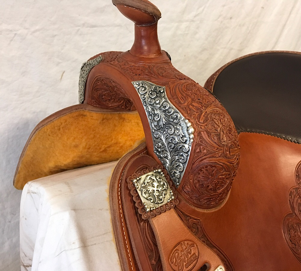 Used Saddle:Tim McQuay show saddle 16 inch- Image Number:0