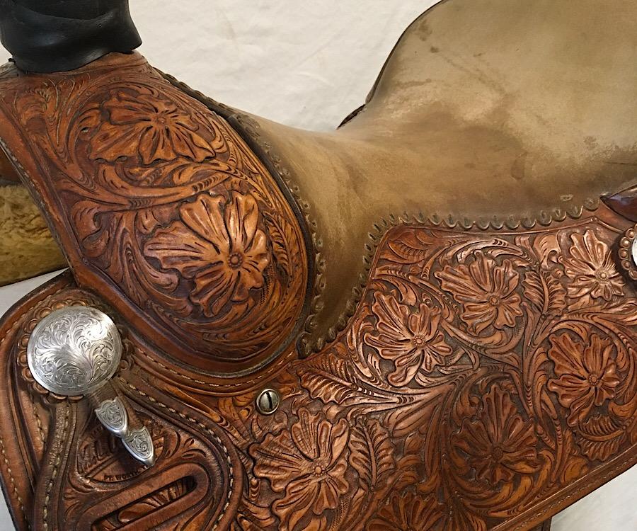 "Used Saddle:Gorgeous Leddy Rancher/All-Around/Roper 15""- Image Number:0"