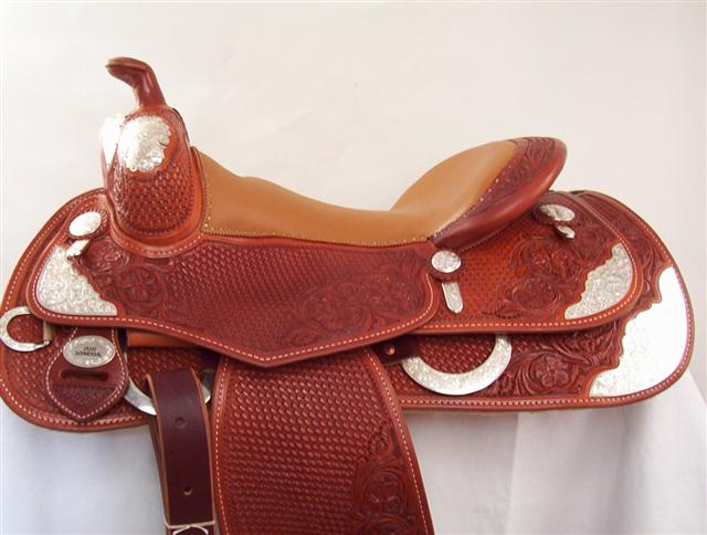 Used Saddle:Silver Reiner!- Image Number:0