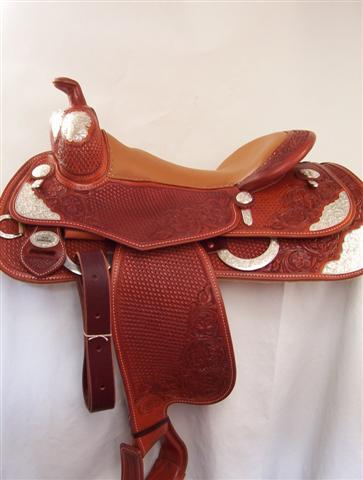 Used Saddle:Silver Reiner!- Image Number:1