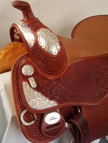 Used Saddle:Silver Reiner!- Image Number:2