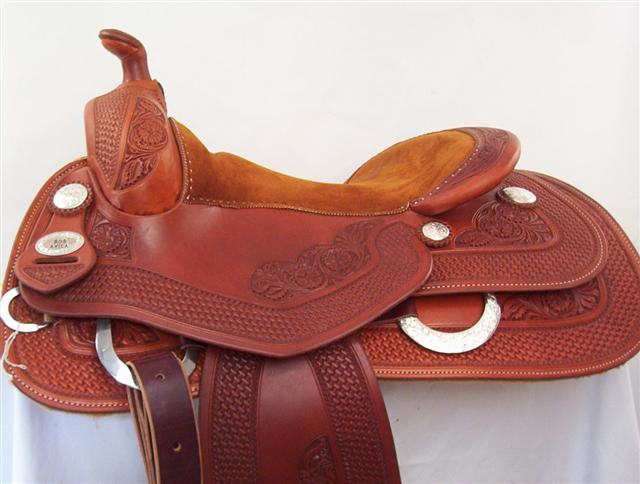 Used Saddle:Bob's Bob Avila Reiner- 15-17- Image Number:0